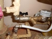 Установка приборов учета холодной воды